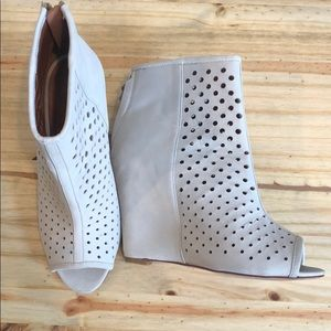 Rebecca Minkoff Perforated Wedge OpenToe Boot